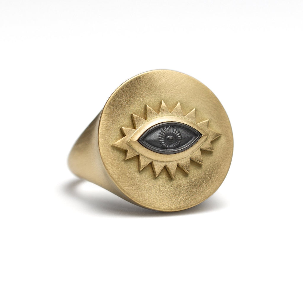 Hematite Greek Eye Ring