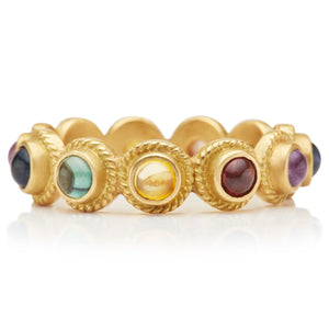 Twisted Renaissance Ring with Multi-Colored Sapphires