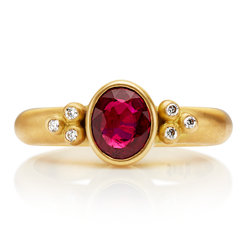 20K Peach Gold Tania Ruby Ring