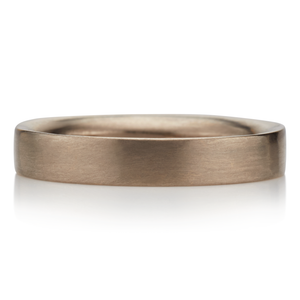 18K White Gold 4mm Half Moon Band