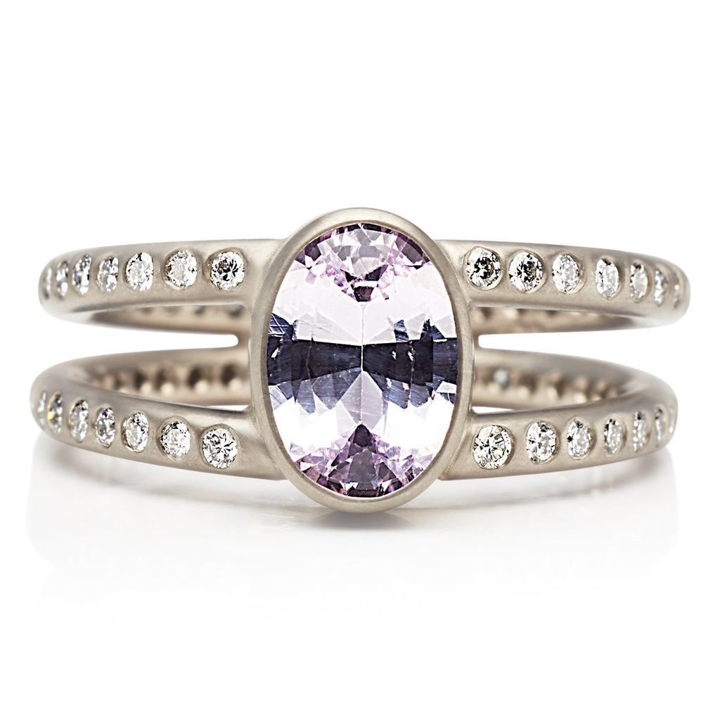 18K White Gold Lightdance Ring with Lavender Sapphire
