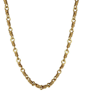 20K Peach Gold Isabella Chain Necklace, 18""