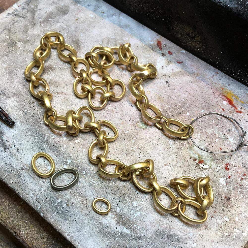 20K Peach Gold Sonoma Tiny Link Chain