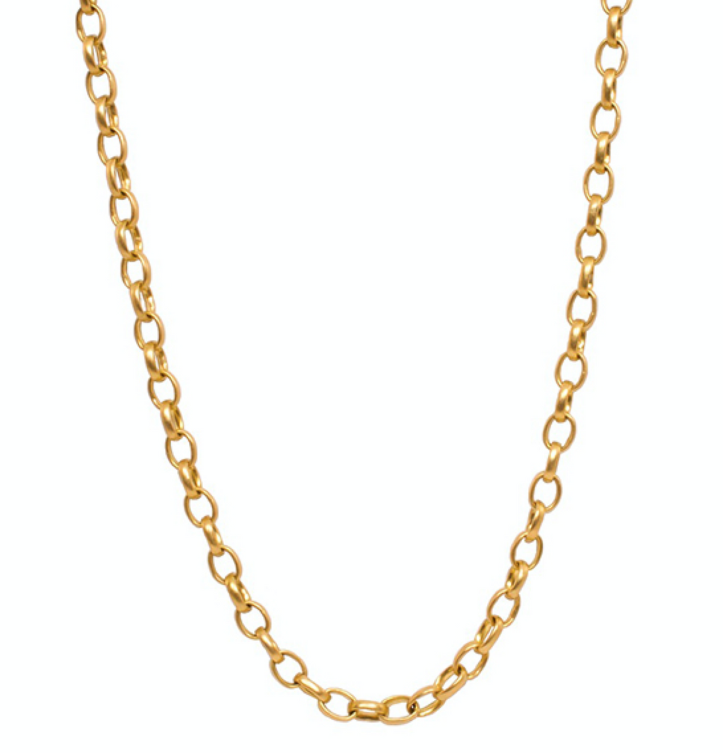 20K Peach Gold Sonoma Small Link Chain, 18""