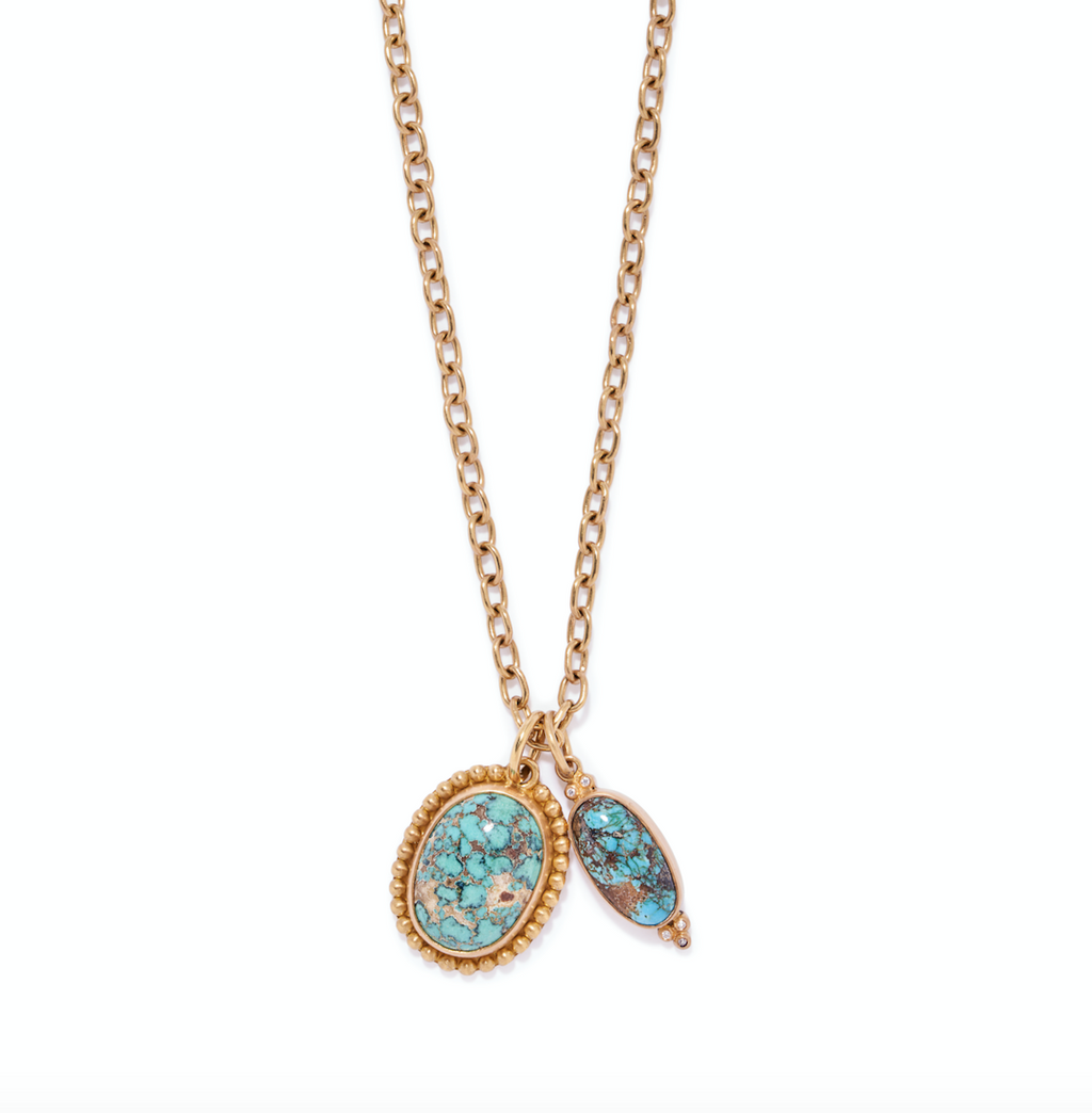 Classic Pendant with Persian Turquoise