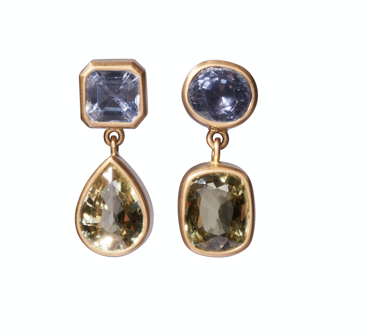 Double Mixed Sapphire earrings