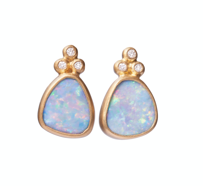 Soft Opal Studs with Granules