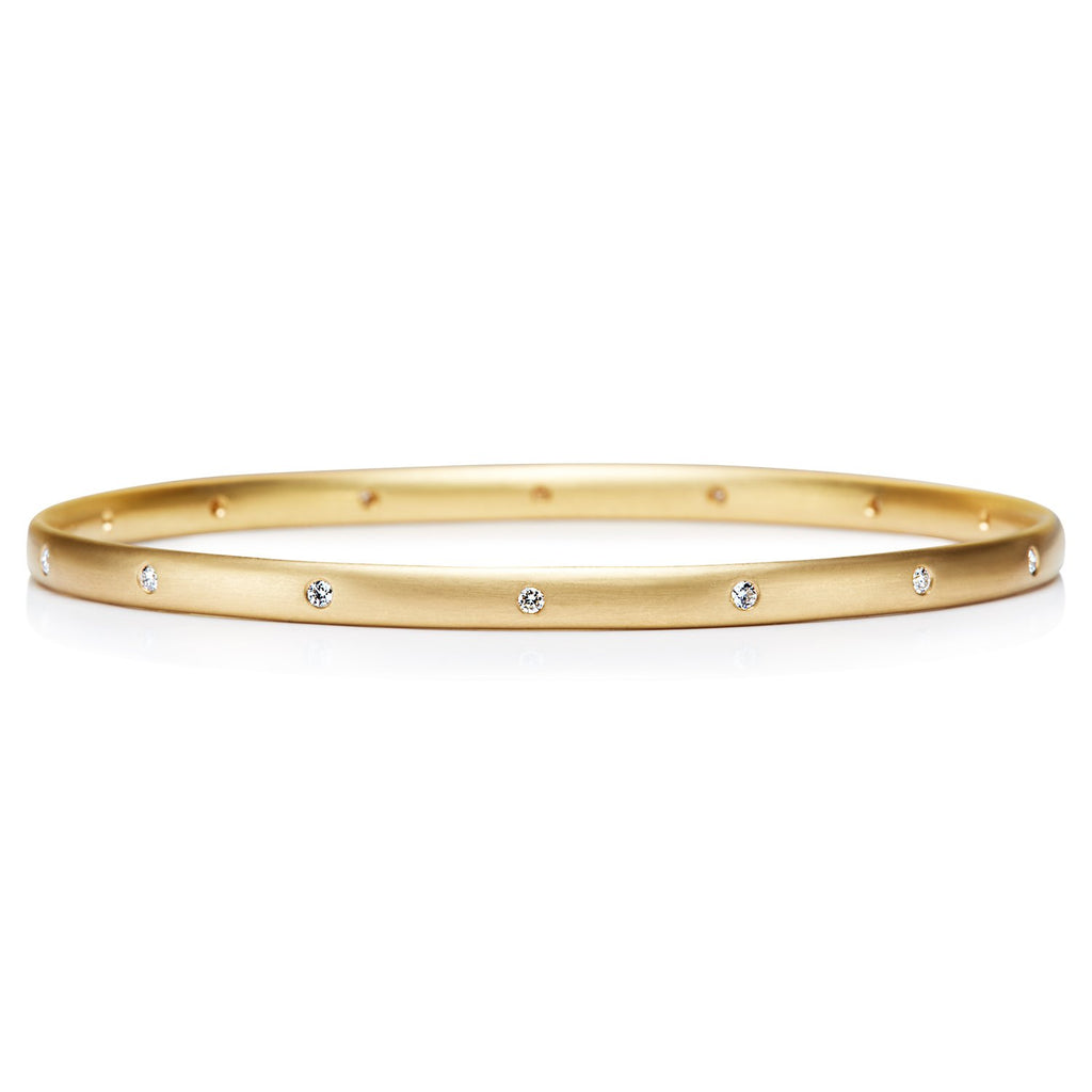 20K Peach Gold Sonoma Diamond Bangle