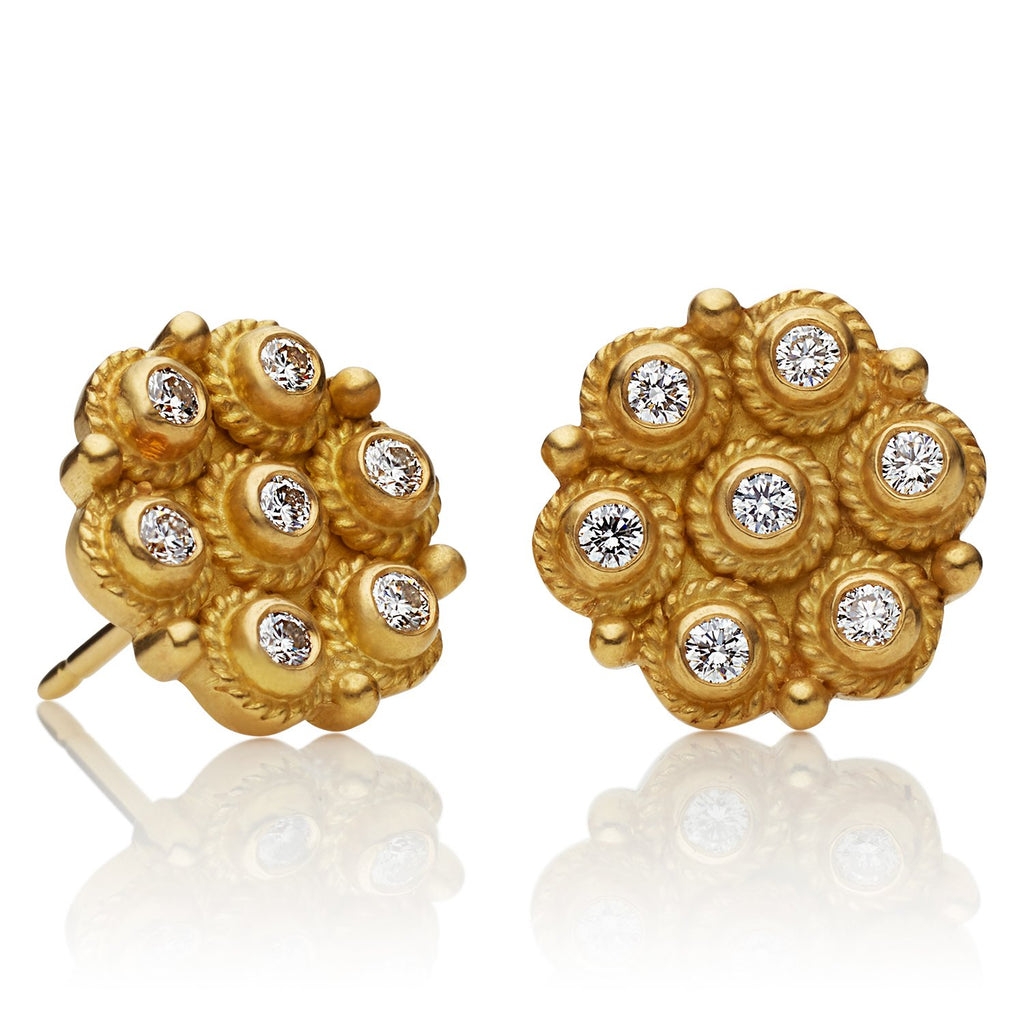 Flower Braid Diamond Studs