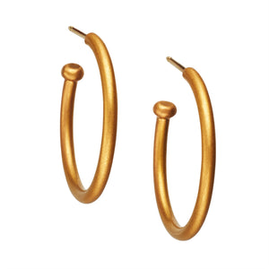 22K Apricot Gold Large Hoops