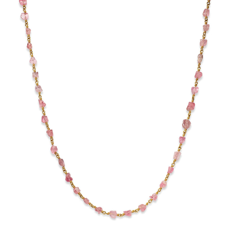 Isabella Pink Tourmaline Necklace, 17""
