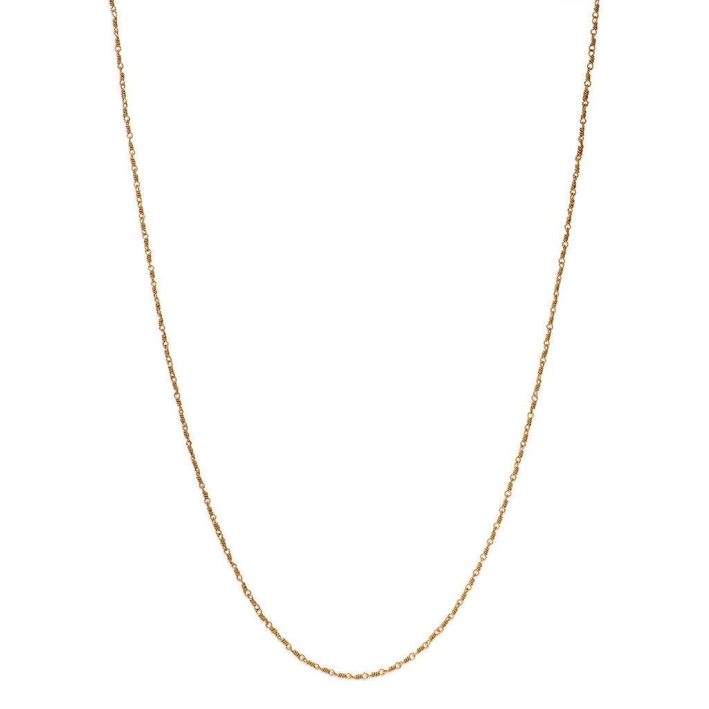 20K Peach Gold Twisted Isabella Chain Necklace, 20""