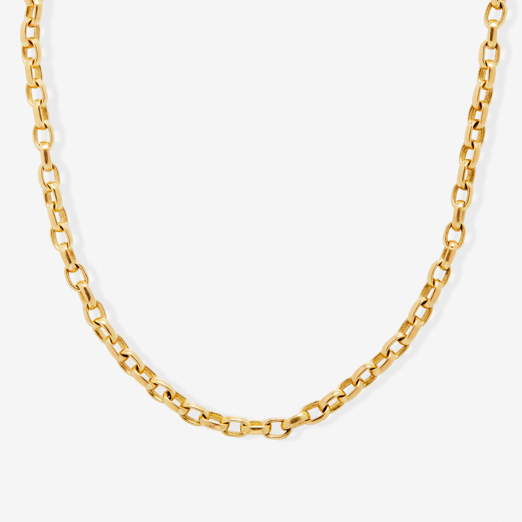 20K Peach Gold Sonoma Mini Link Chain, 18""