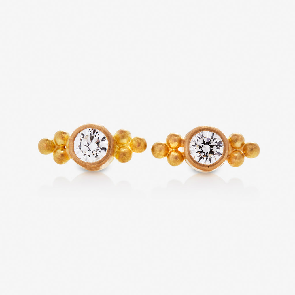 Tania Diamond Studs Double Set Of Granuels