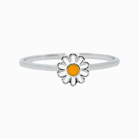 DAISY RING SILVER SILVER