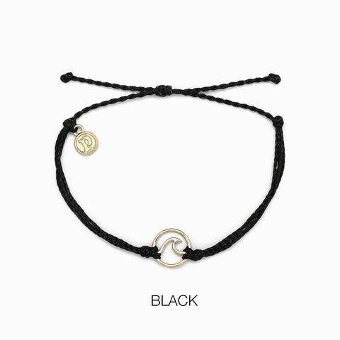 PURA VIDA WAVE GOLD BLACK