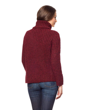 Invisible World Womens Alpaca Sweater Pullover Brushed Baby Alpaca Turtleneck Sweater for Women