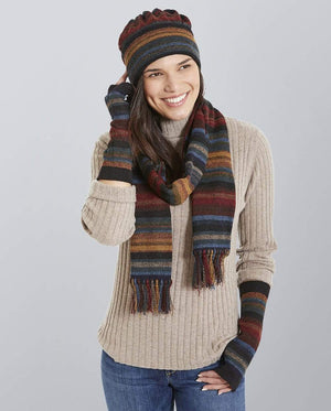 Invisible World Hat Glove Scarf Set Chiminea Alpaca Hat, Glove, and Scarf Set