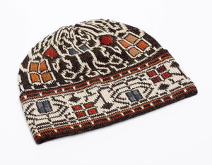 Invisible World 100% Alpaca Wool Hat or Beanie Medium Congo Embroidered 100% Alpaca Wool Hat
