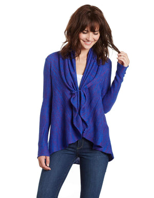 Invisible World Women's Cardigan Metamorphosis Pima & Alpaca Wrap Cardigan Sweater
