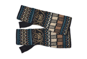 Invisible World Gloves Navajo Women's Fingerless Alpaca Gloves
