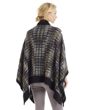 Invisible World Alpaca Poncho or Ruana Noelle 100% Alpaca Wool Poncho Ruana for Women