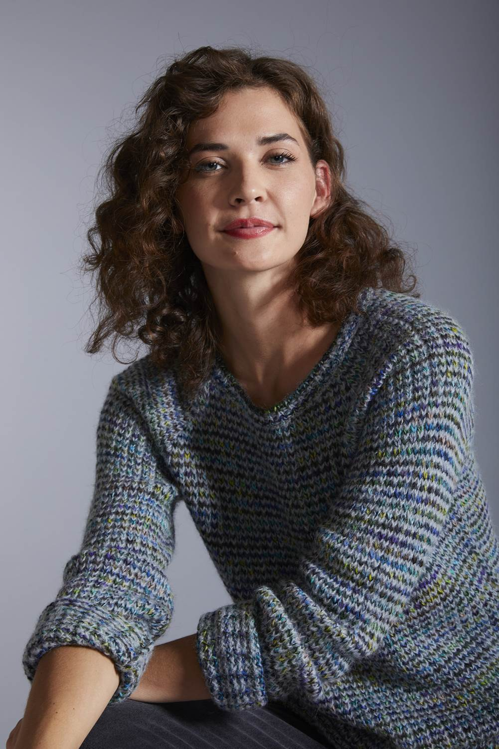 Kero Women's Pullover Small Northern Lights Hand-Dyed Alpaca Jumper for Women