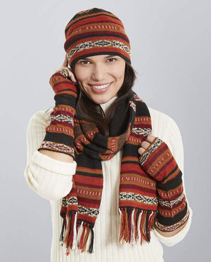 Intiwara Medium / Hat Glove Scarf Potosi Alpaca Hat, Scarf and Gloves Set