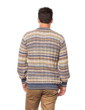 Invisible World Men's Cardigan Sea Men's Lightweight Alpaca Jumper