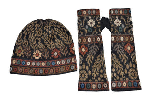 Invisible World Hat Glove Scarf Set Tibet Alpaca Hat Glove and Scarf Set