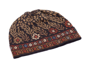 Invisible World 100% Alpaca Wool Hat or Beanie Tibet Embroidered 100% Alpaca Wool Hat
