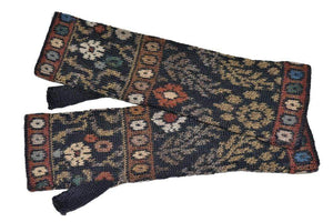 Invisible World Tibet Women's Fingerless Gloves and  Alpaca Hat Set