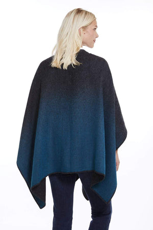 Manos del Peru Alpaca Poncho or Ruana Twilight Reversible Baby Alpaca Wool Poncho Ruana for Women