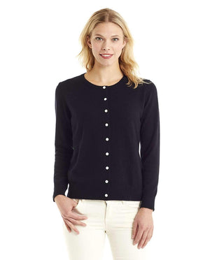 Invisible World Women's Cardigan Black / Small Women's Button Up Pure Cashmere Little Cardigan