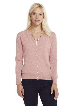 Invisible World Women's Cardigan Pink / Small Women's Button Up Pure Cashmere Little Cardigan