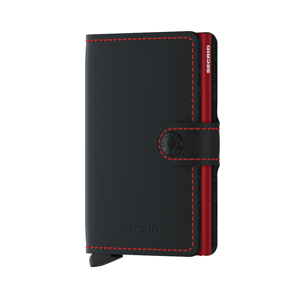 Secrid Miniwallet Matte Black Red