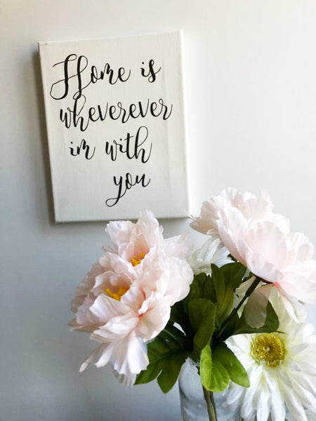 """Home Is Wherever I'm With You"" Canvas"