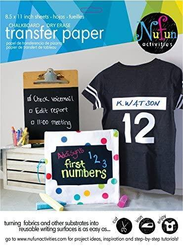 Chalkboard and Dry Erase Heat Transfer Paper - NuFun Activities
