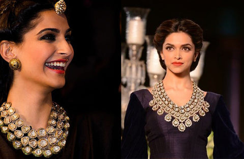 Real Polki Jewellery. Picture sourced from Strands of Silk