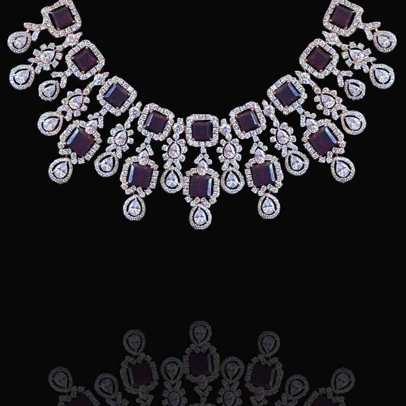 latest diamond necklace design