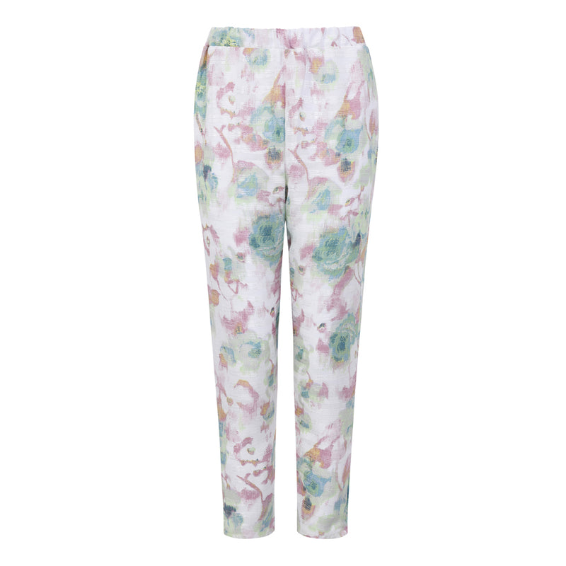 Green Floral Organza Trousers