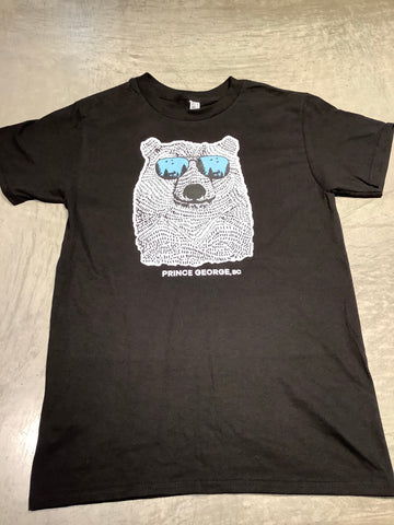 Polar Bear with Sunglasses Adult T-Shirt