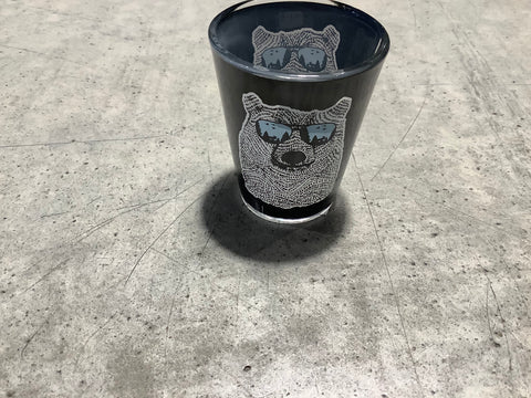 Bear with Sunglasses Shot Glass