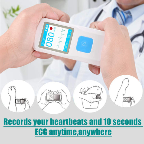 Elettrocardiografo Portatile ECG, 1byone EKG Personale Wireless, Rileva la Bradicardia e la Tachicardia AFib in 10 Secondi, Monitor della Frequenza Cardiaca per iPhone e Android, Mac & Windows