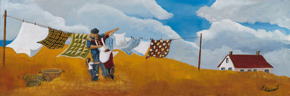 Laurel Hibbert We'll dance in fields of gold Painting quilts wind prairies romance dancing anniversary joy beauty peace happy celebrate