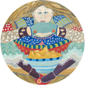 Laurel Hibbert Round Woman Studio Whimsical Joy Happy Woman