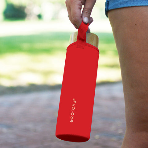 venice GR 385 water bottle with thermal sleeve and easy to carry strap