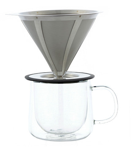 Coffee Dripper: GROSCHE Ultramesh Pour Over Coffee Dripper, 1-4 cup - Package of 2
