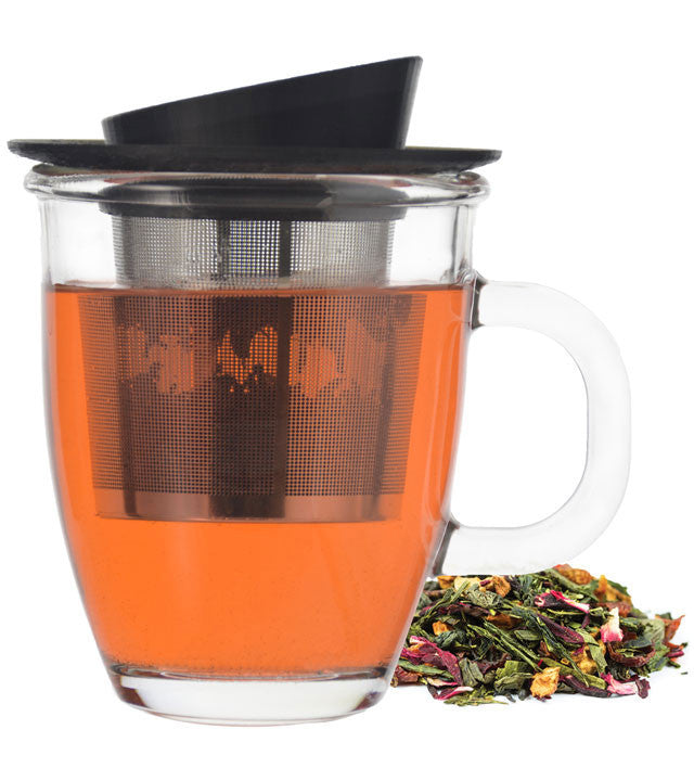 Infuser Tea Mug: GROSCHE Aspen - 400ml/13.5 fl. oz - Package of 4