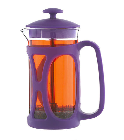 French Press: GROSCHE Basel - Purple, 350ml/11.8 fl. oz - Package of 4